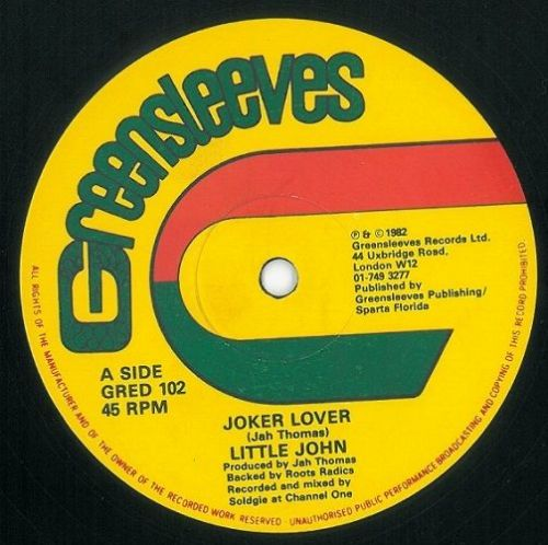 LITTLE JOHN Joker Lover Vinyl Record 12 Inch Greensleeves 1982
